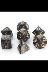 DIE HARD DICE DIE HARD DICE 7 CT RPG DICE SET SMOKE W/ GOLD