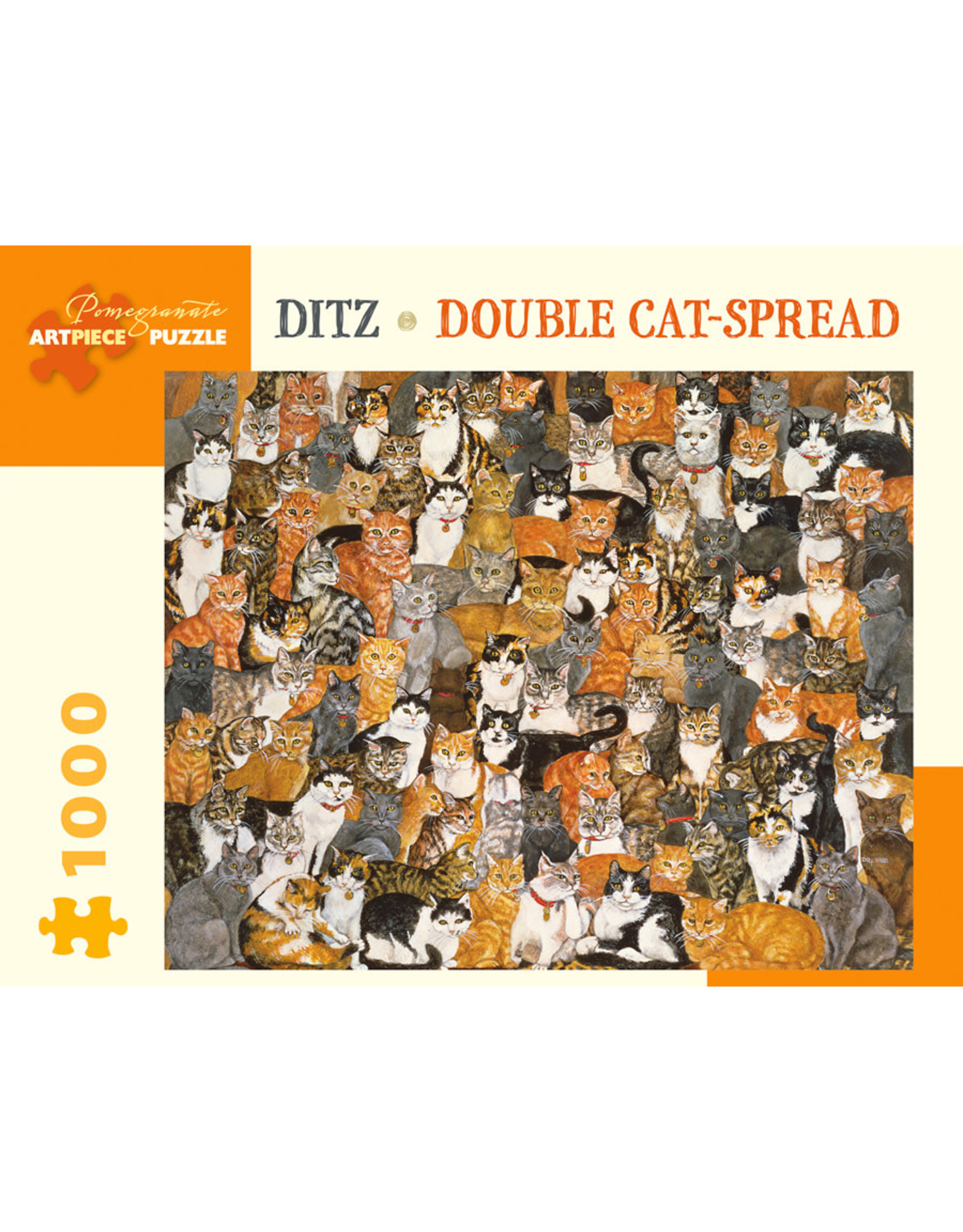 DITZ DOUBLE CAT SPREAD 1000 PIECE PUZZLE