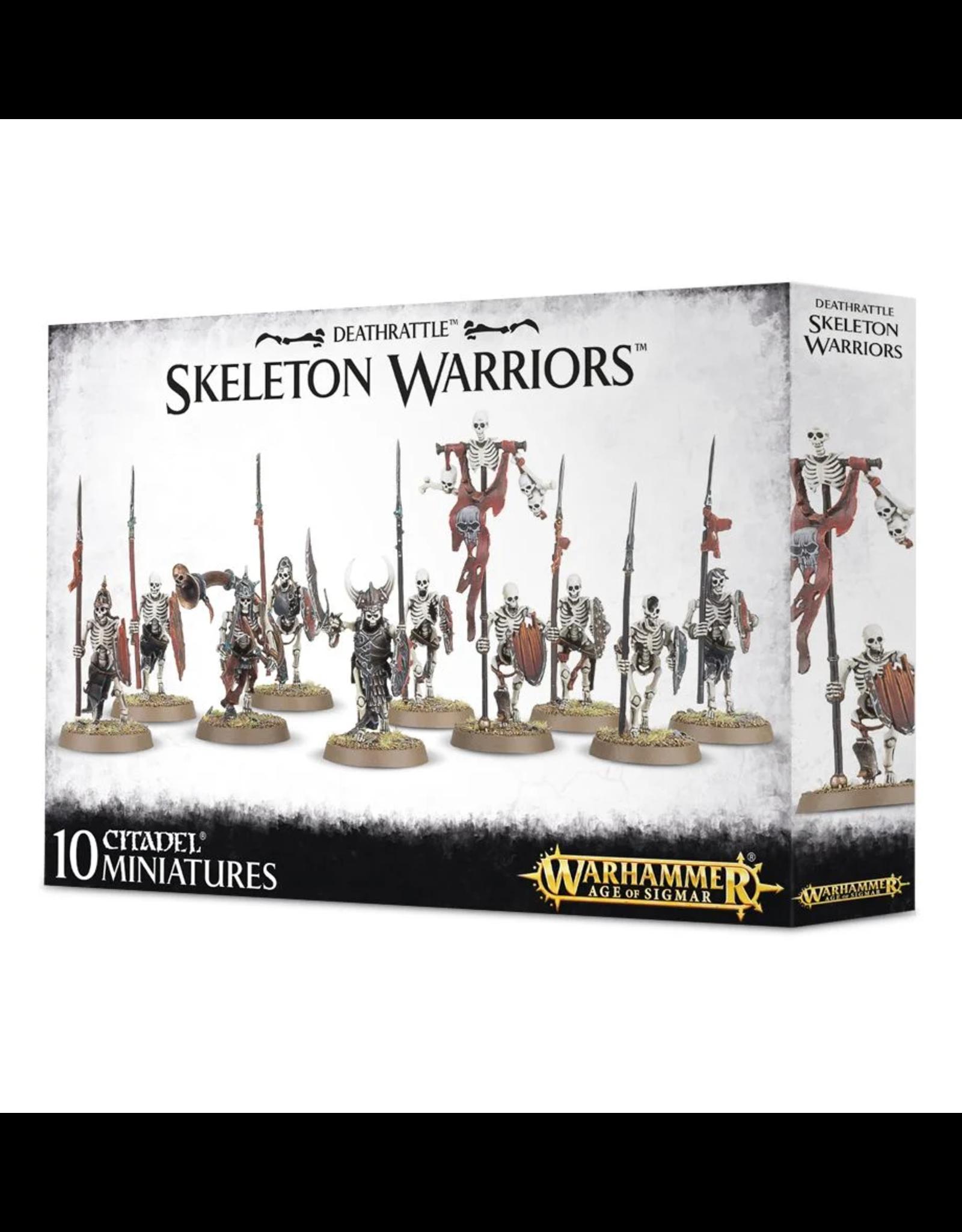 GAMES WORKSHOP WARHAMMER AGE OF SIGMAR - DEATHRATTLE SKELETON WARRIORS