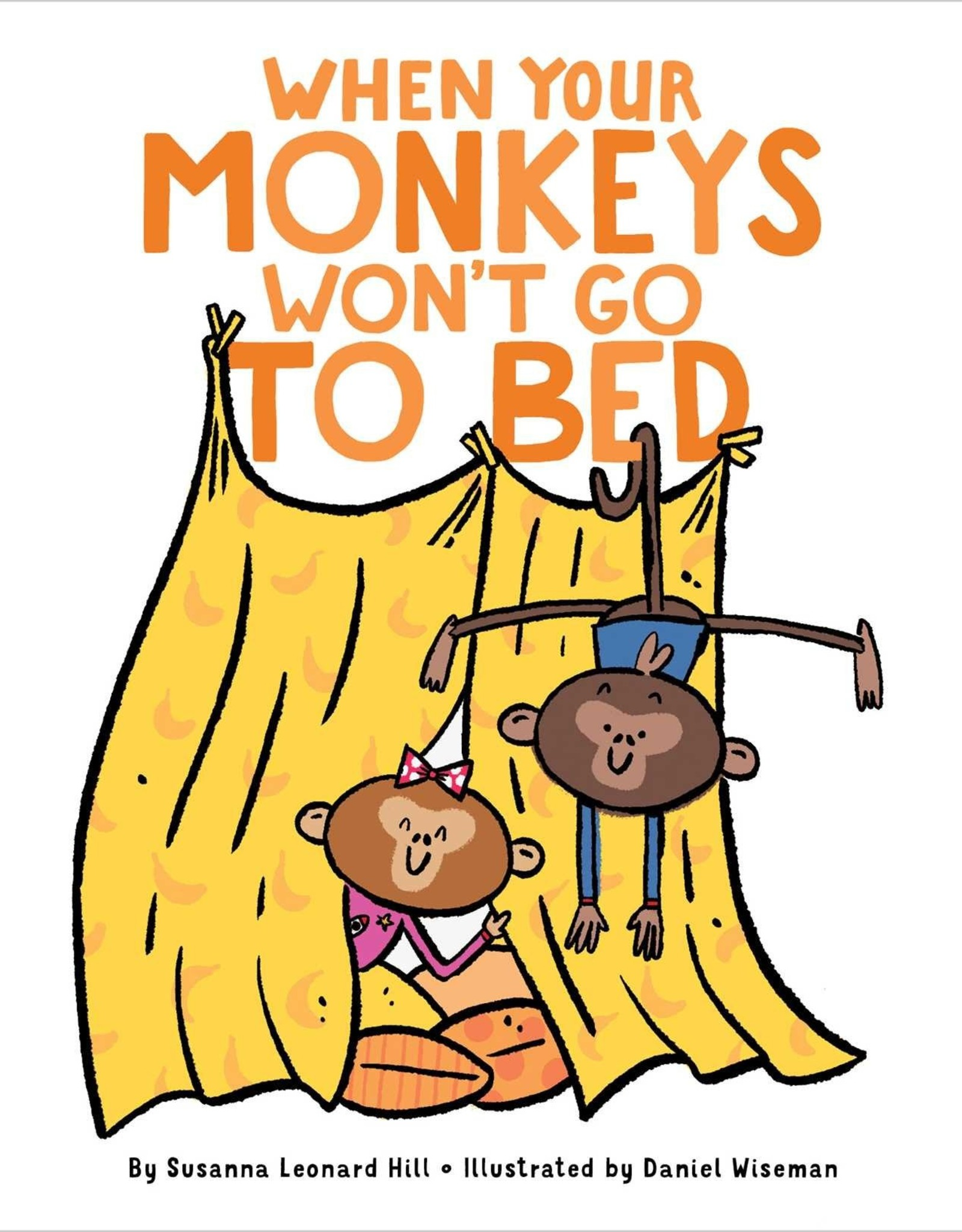 SIMON & SCHUSTER WHEN YOUR MONKEYS WONT GO TO BED BOARD BOOK
