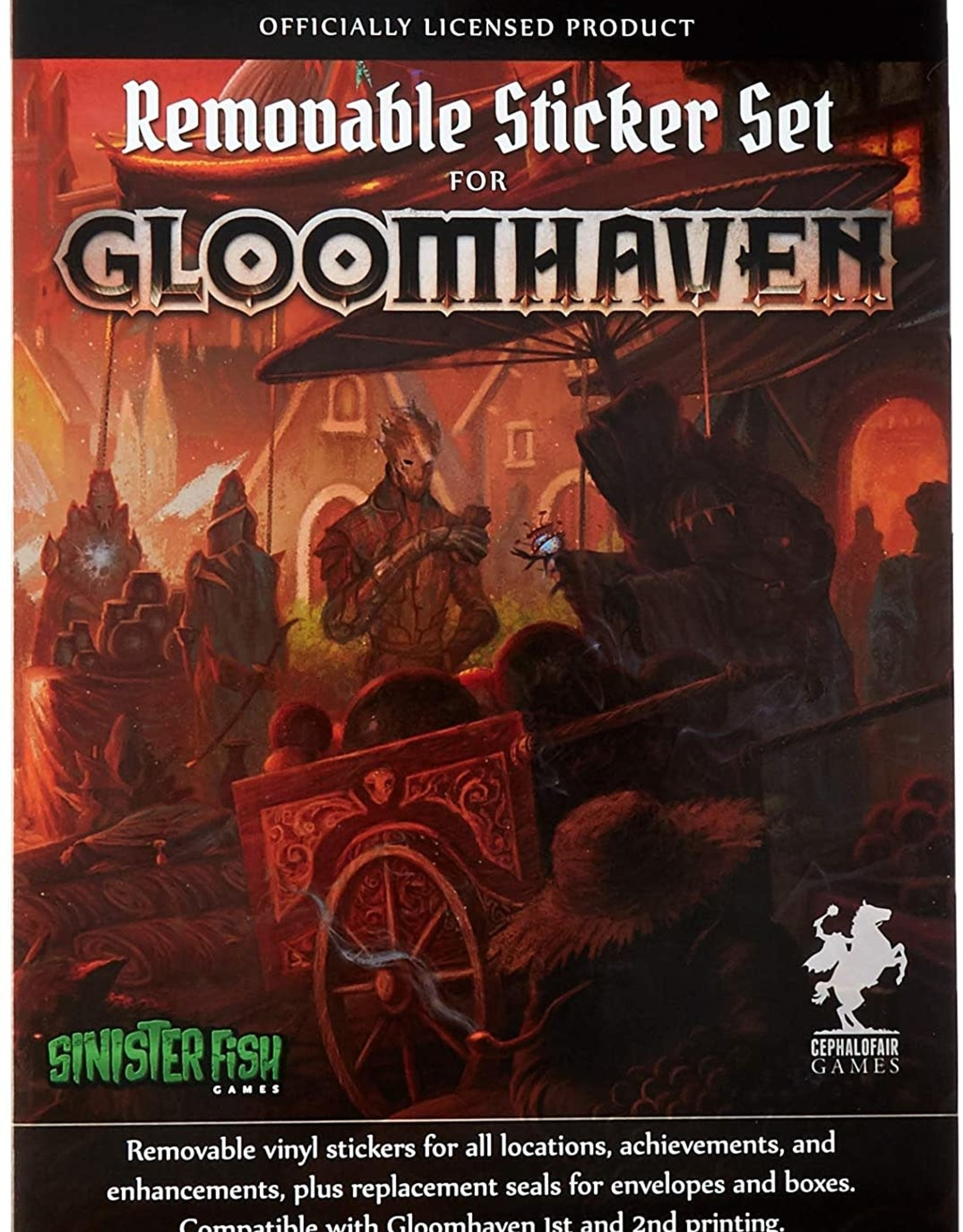 GLOOMHAVEN REMOVEABLE STICKER SET