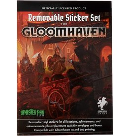 SINISTER FISH GAMES GLOOMHAVEN REMOVEABLE STICKER SET