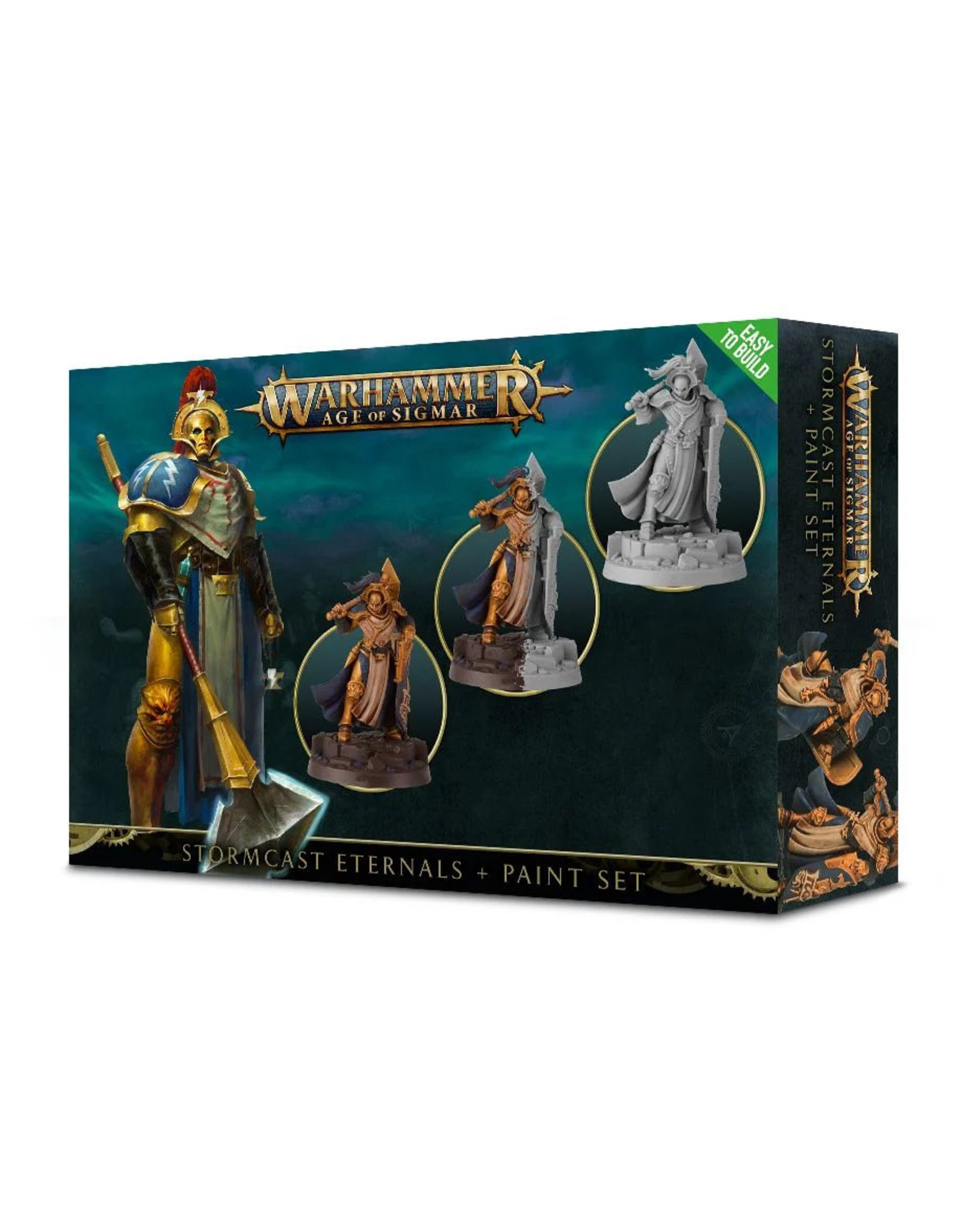 GAMES WORKSHOP WARHAMMER AGE OF SIGMAR - STORMCAST ETERNALS + PAINT SET