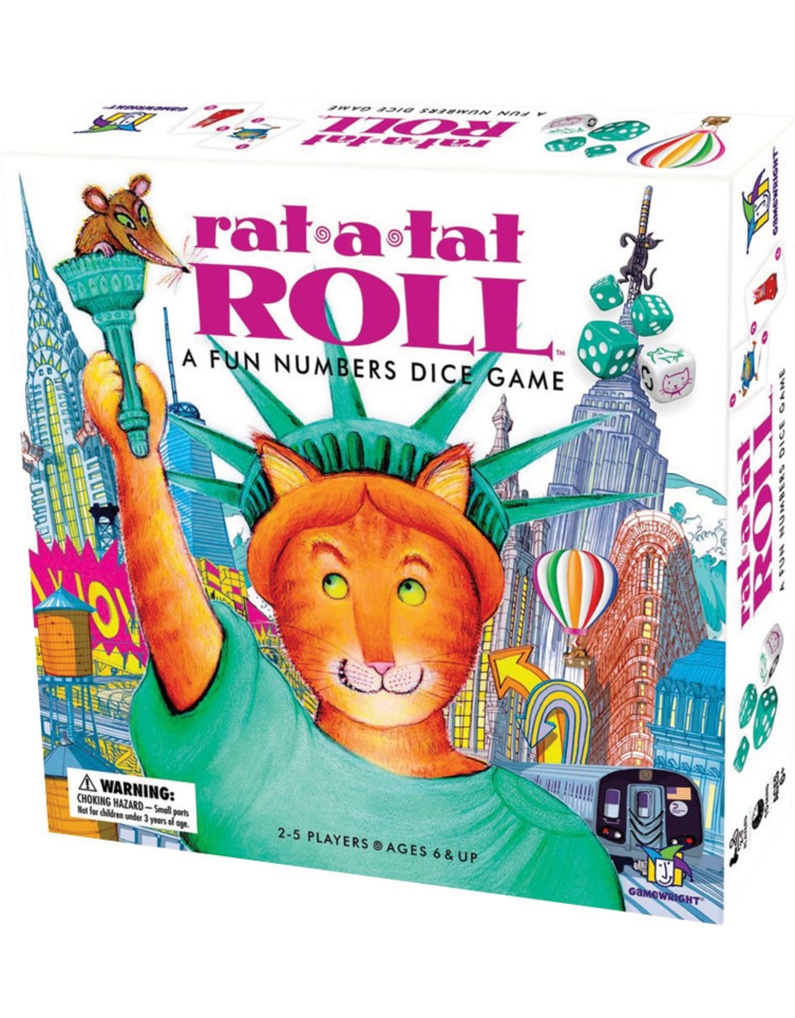GAMEWRIGHT RAT A TAT ROLL DICE GAME