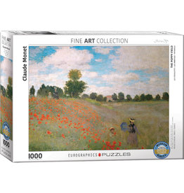 CLAUDE MONET THE POPPY FIELD 1000 PIECE PUZZLE