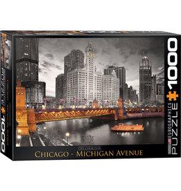 CHICAGO MICHIGAN AVENUE 1000 PIECE PUZZLE