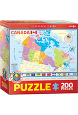 KIDS MAP OF CANADA 200 PIECE PUZZLE