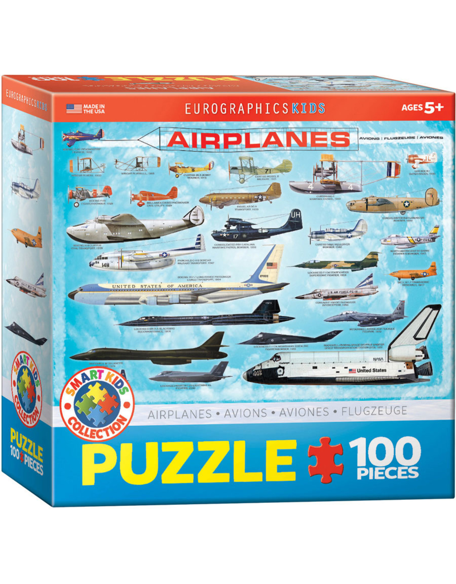 KIDS AIRPLANES 100 PIECE PUZZLE