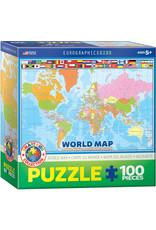 KIDS WORLD MAP 100 PIECE PUZZLE