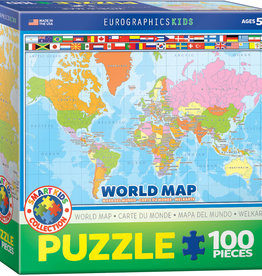 KIDS WORLD MAP 100 PIECE PUZZLE