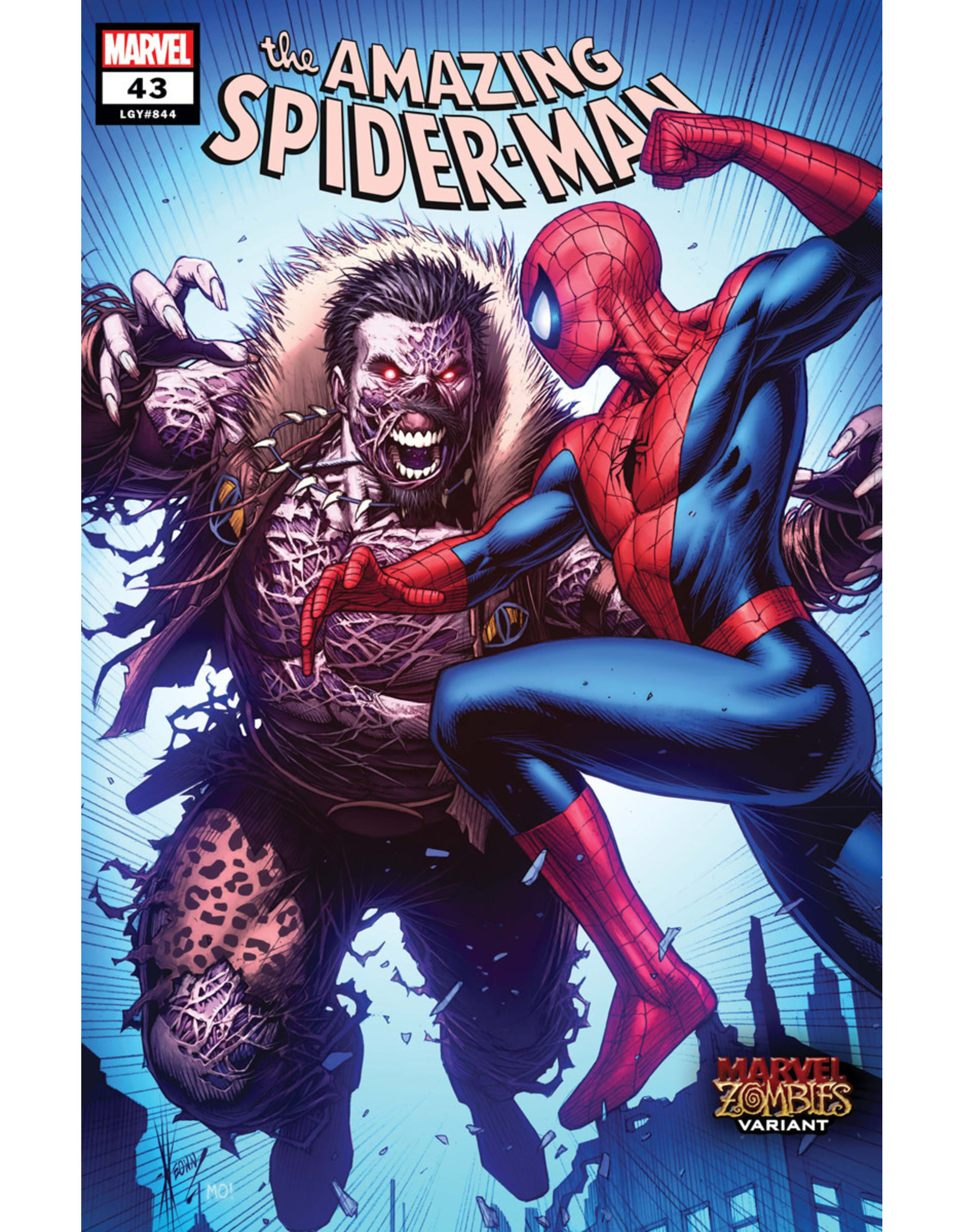 MARVEL COMICS AMAZING SPIDER-MAN #43 KEOWN MARVEL ZOMBIES VAR