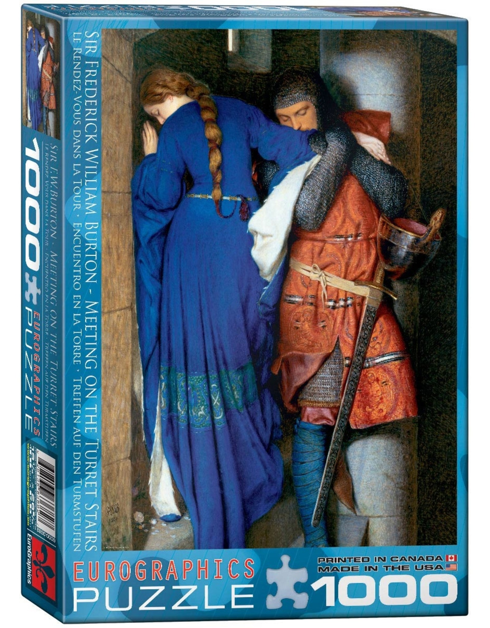 SIR FREDERICK WILLIAM BURTON MEETING ON THE TURRET STAIRS1000 PIECE PUZZLE