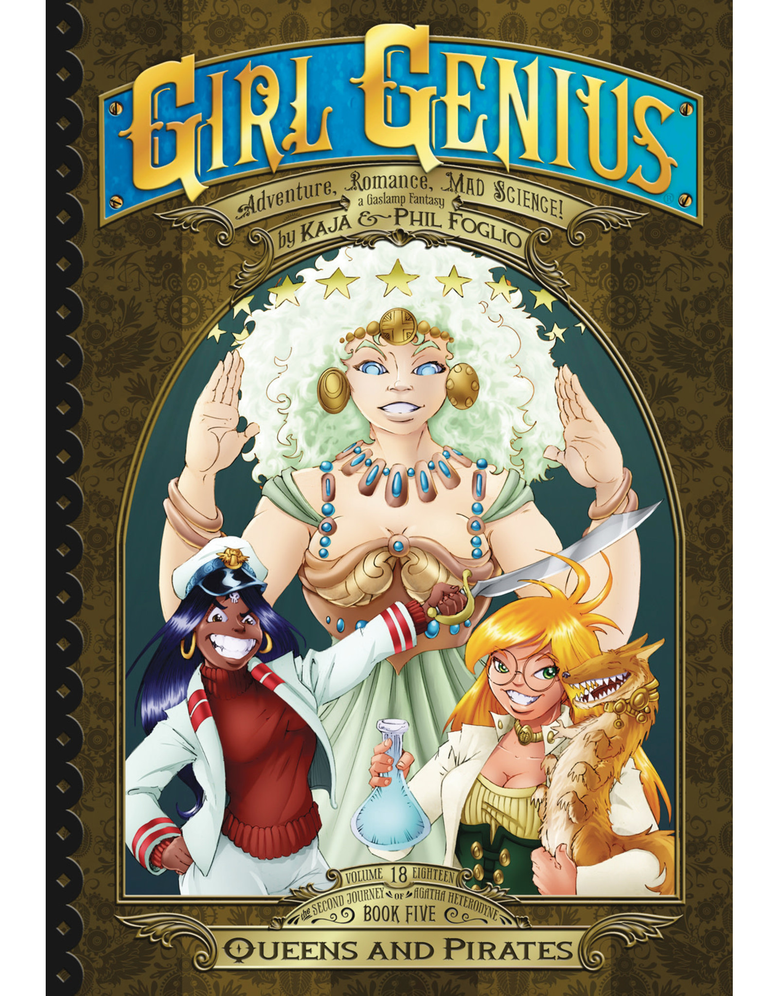 AIRSHIP ENTERTAINMENT GIRL GENIUS SECOND JOURNEY GN VOL 05 QUEENS AND PIRATES