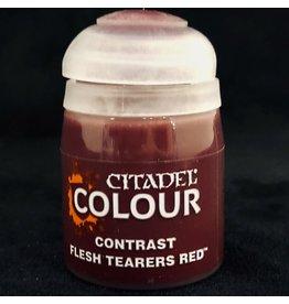 GAMES WORKSHOP CITADEL COLOUR CONTRAST: FLESH TEARER RED (18ML)