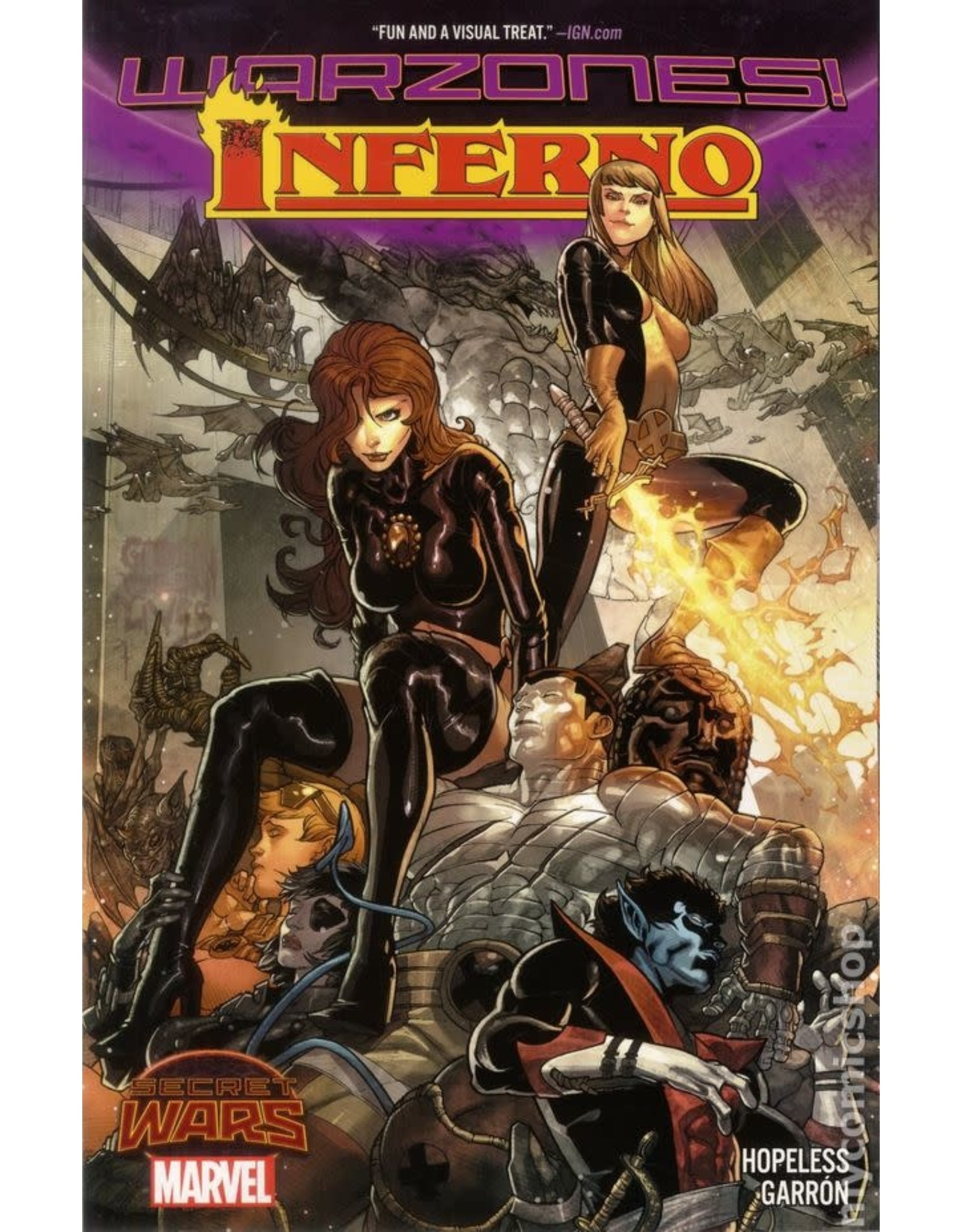 MARVEL COMICS INFERNO WARZONES TRADE PAPERBACK