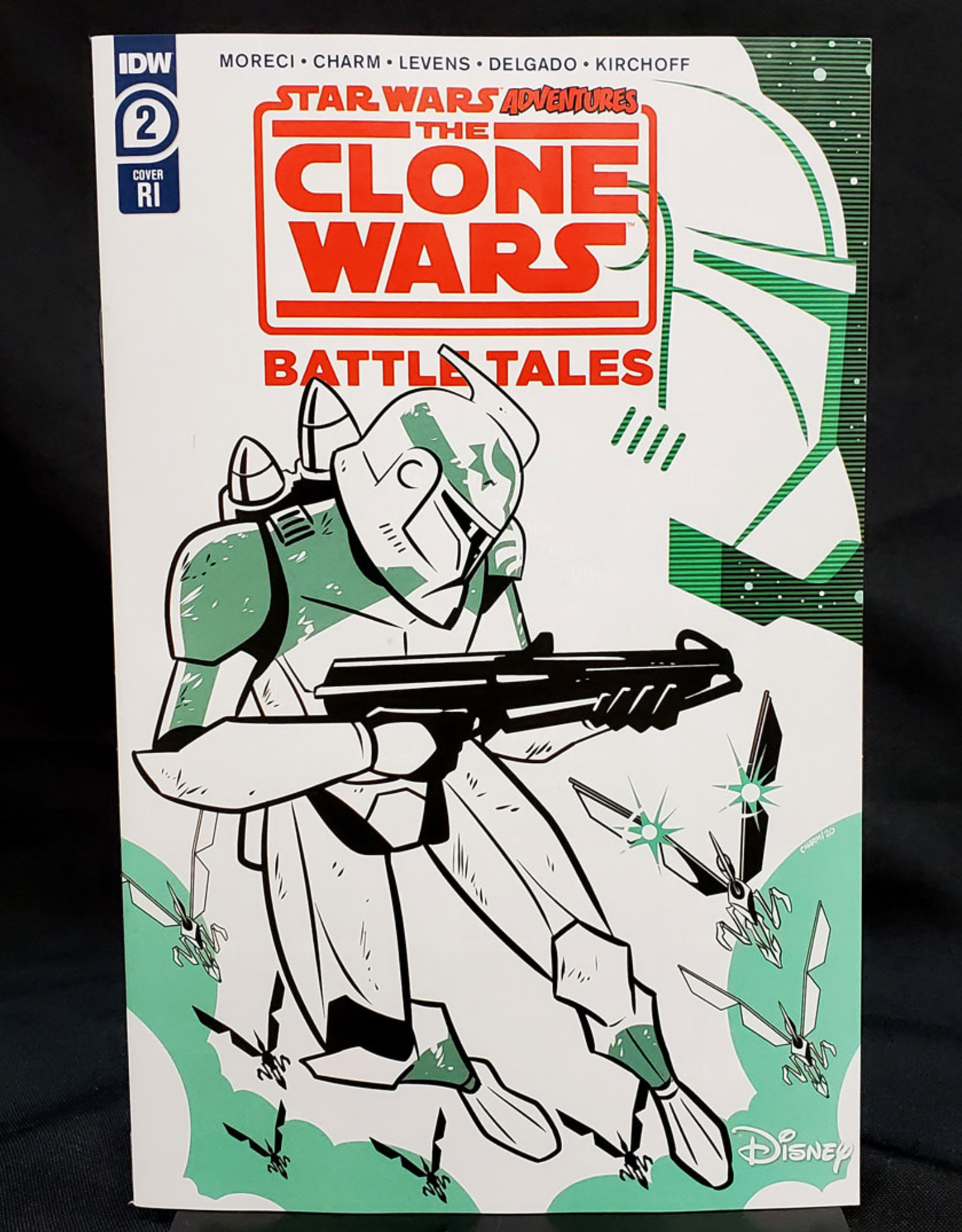 IDW PUBLISHING STAR WARS ADVENTURES CLONE WARS #2 (OF 5) 10 COPY INCENTIVE CHARM VARIANT