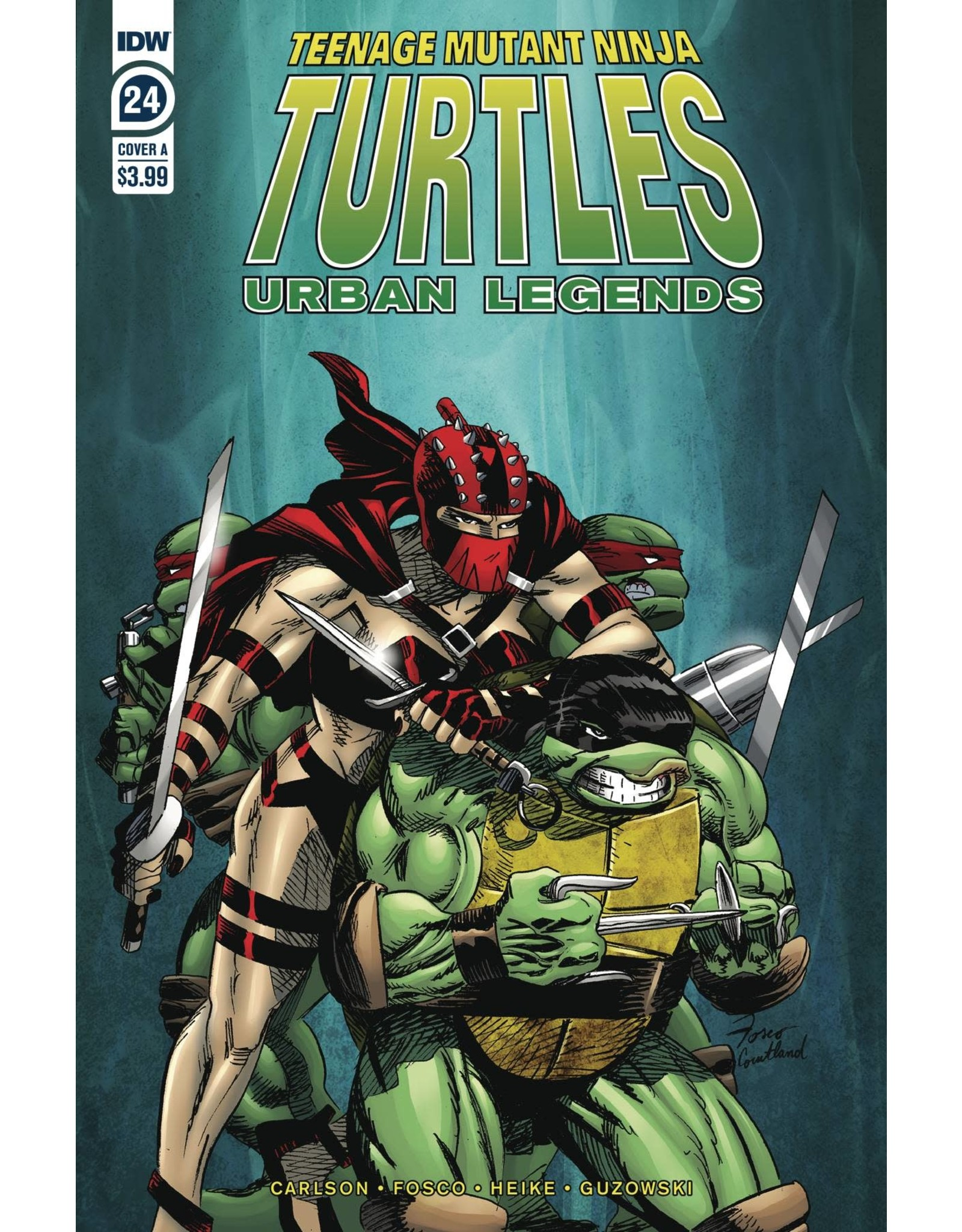 IDW PUBLISHING TMNT URBAN LEGENDS #24 CVR A FOSCO
