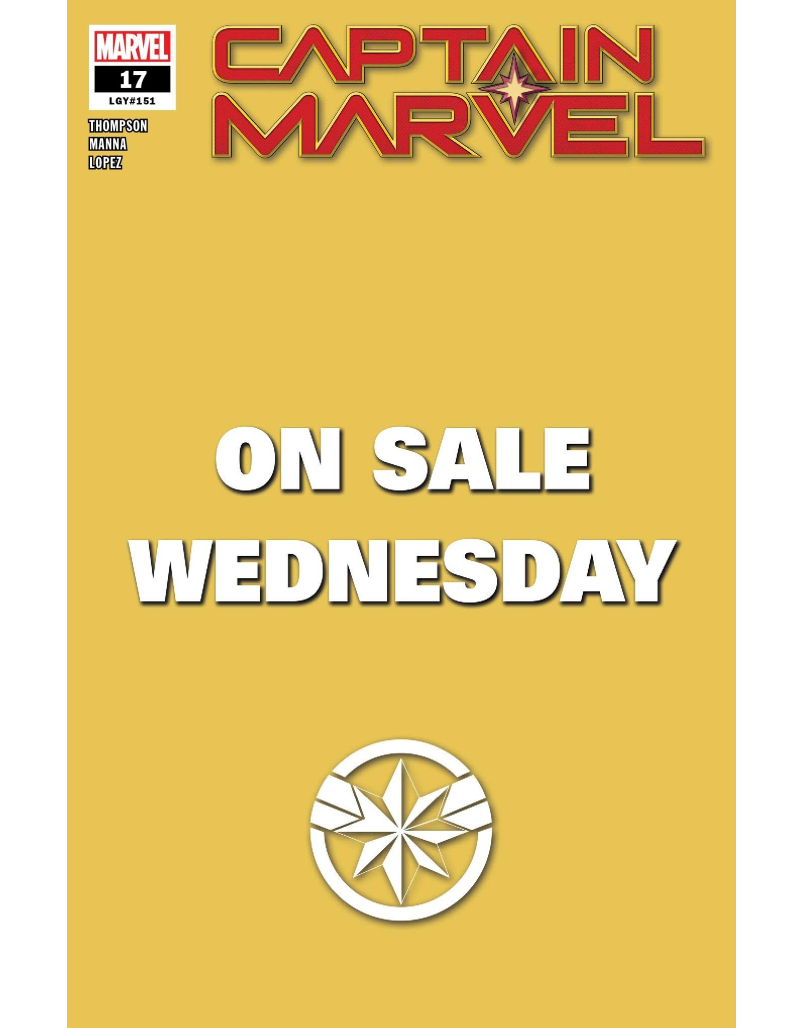 MARVEL COMICS CAPTAIN MARVEL #17 MARVEL WEDNESDAY VAR