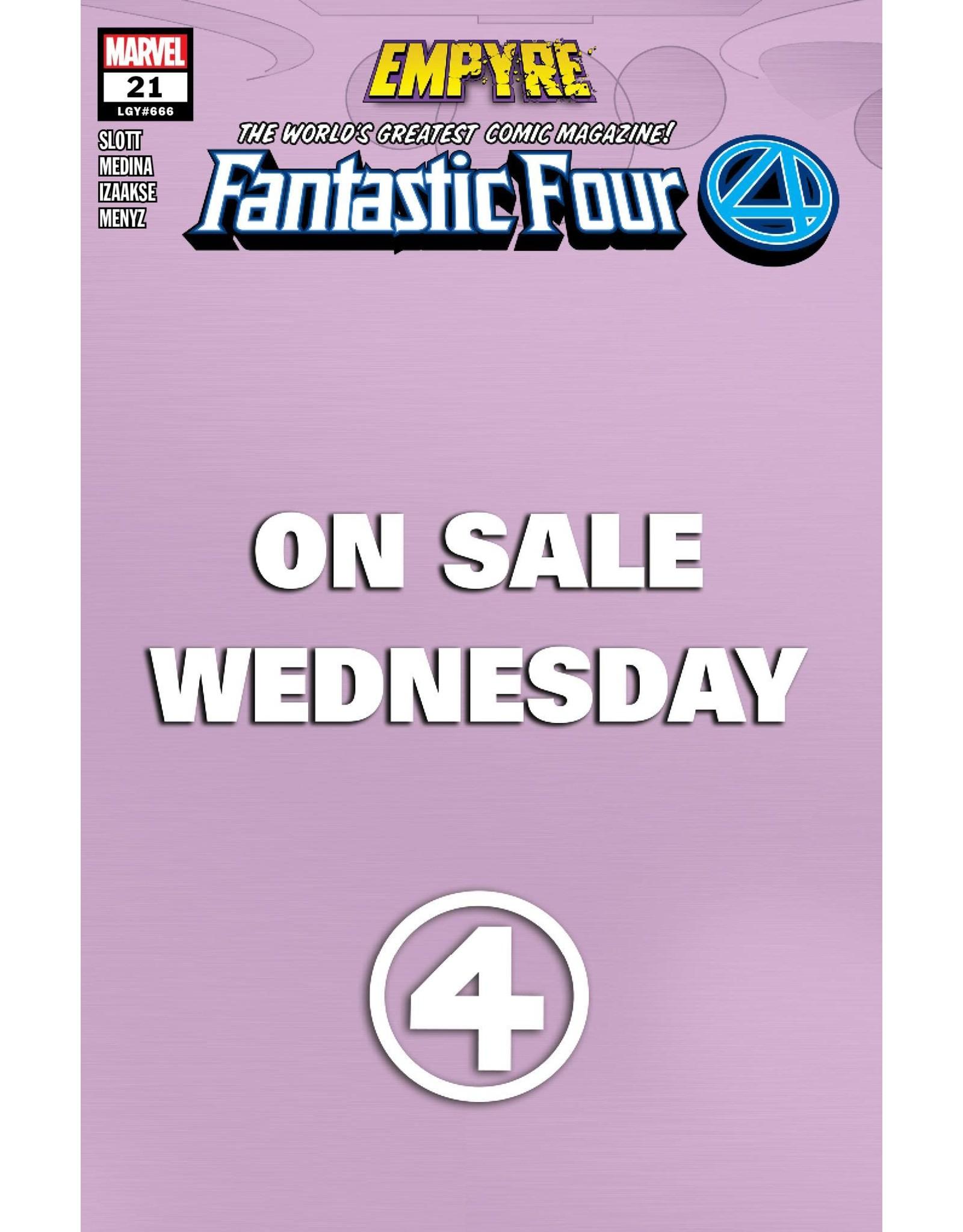 MARVEL COMICS FANTASTIC FOUR #21 MARVEL WEDNESDAY VAR EMP