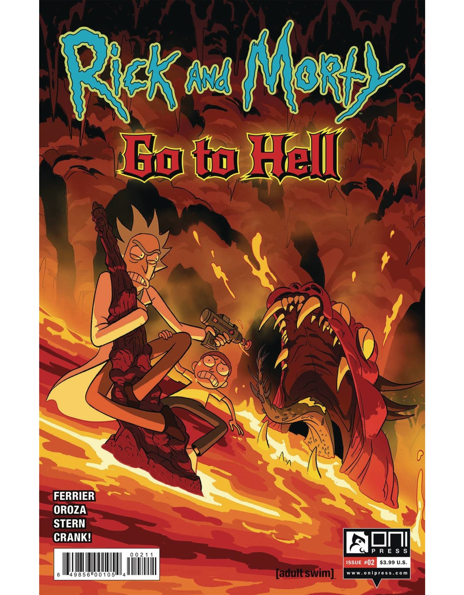 ONI PRESS INC. RICK AND MORTY GO TO HELL #2 CVR A OROZA