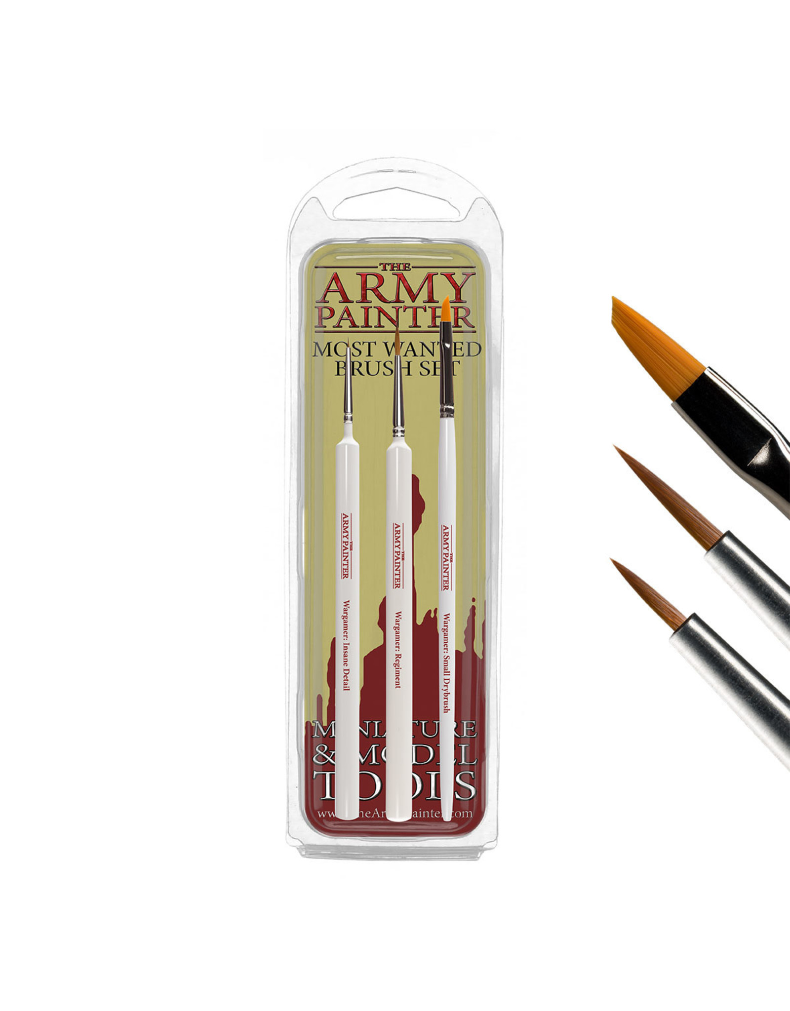 THE ARMY PAINTER ARMY PAINTER WARGAMER MOST WANTED BRUSH SET