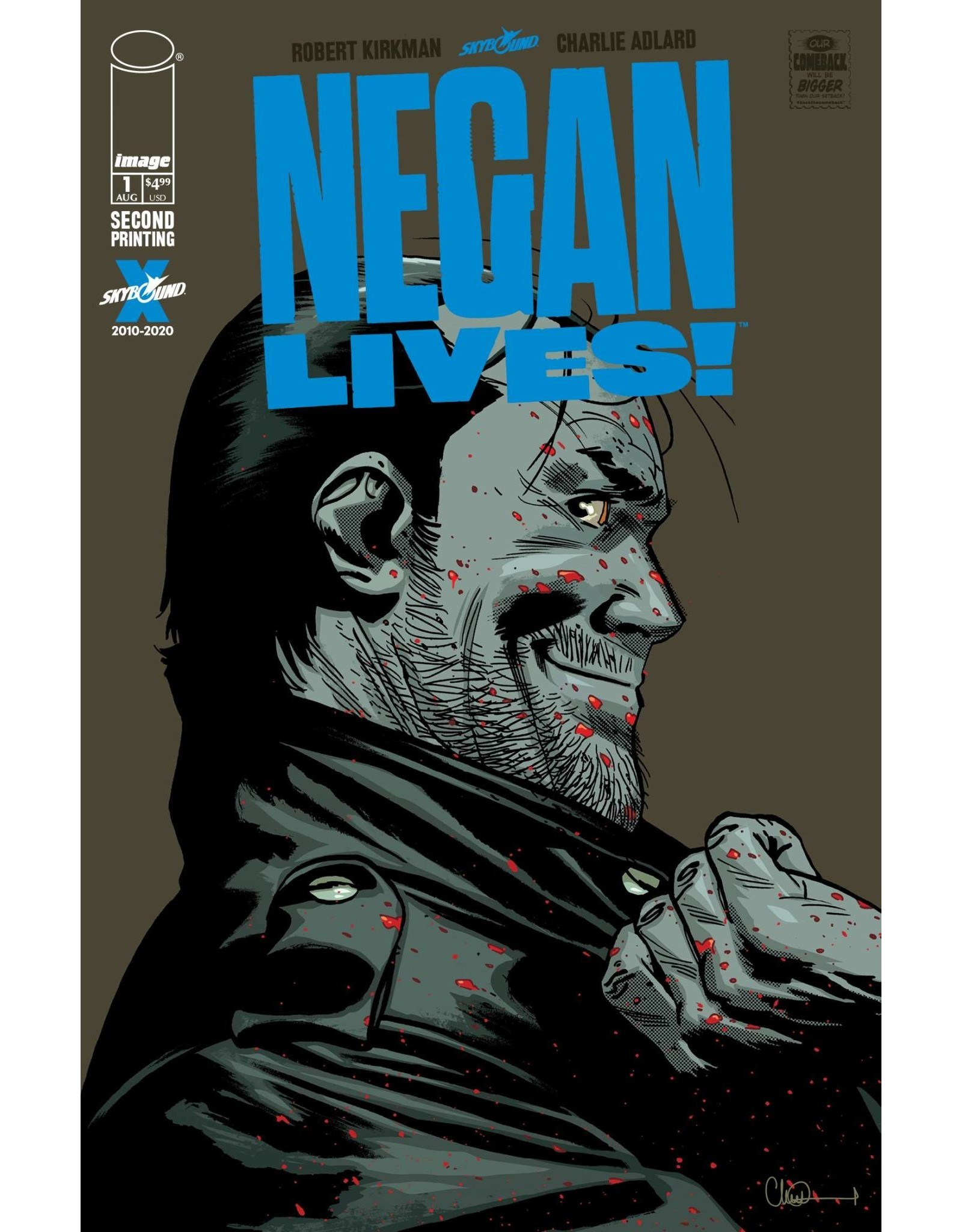 IMAGE COMICS NEGAN LIVES #1 2ND PTG