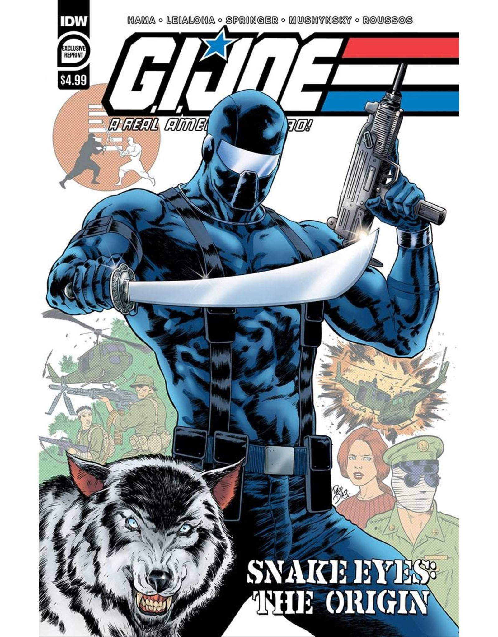 IDW PUBLISHING GI JOE A REAL AMERICAN HERO SNAKE EYES ORIGIN