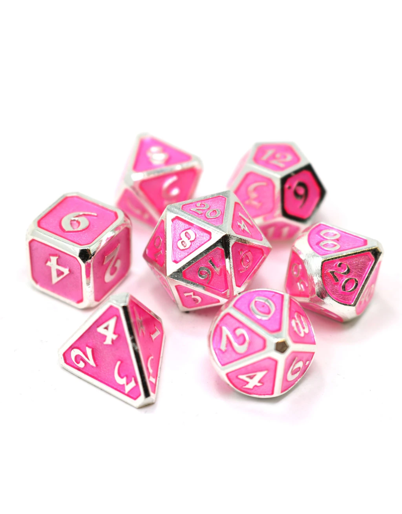 DIE HARD DICE DIE HARD DICE 7 CT RPG MYTHICA PLATINUM PINK SAPPHIRE