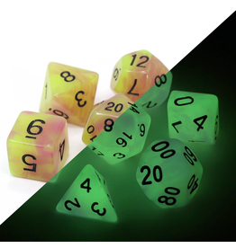 DIE HARD DICE DIE HARD DICE GLOW IN THE DARK RPG SET - ASTRAL FIRE