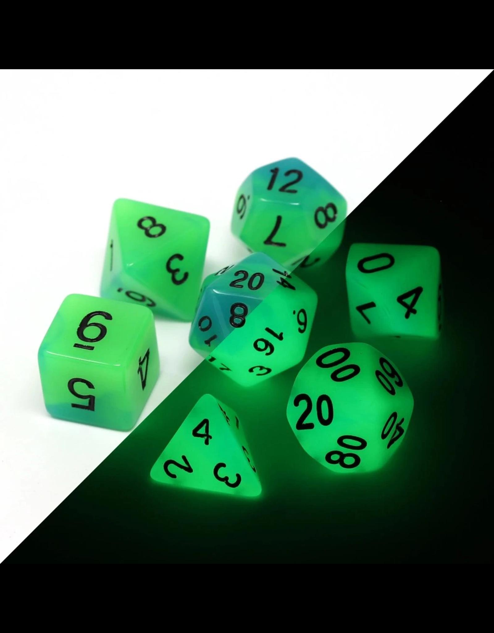 DIE HARD DICE DIE HARD DICE GLOW IN THE DARK RPG SET - DRIFTGLOBE