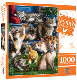 FURRY FRIENDS BUTTERFLY CHASERS 1000 PIECE PUZZLE