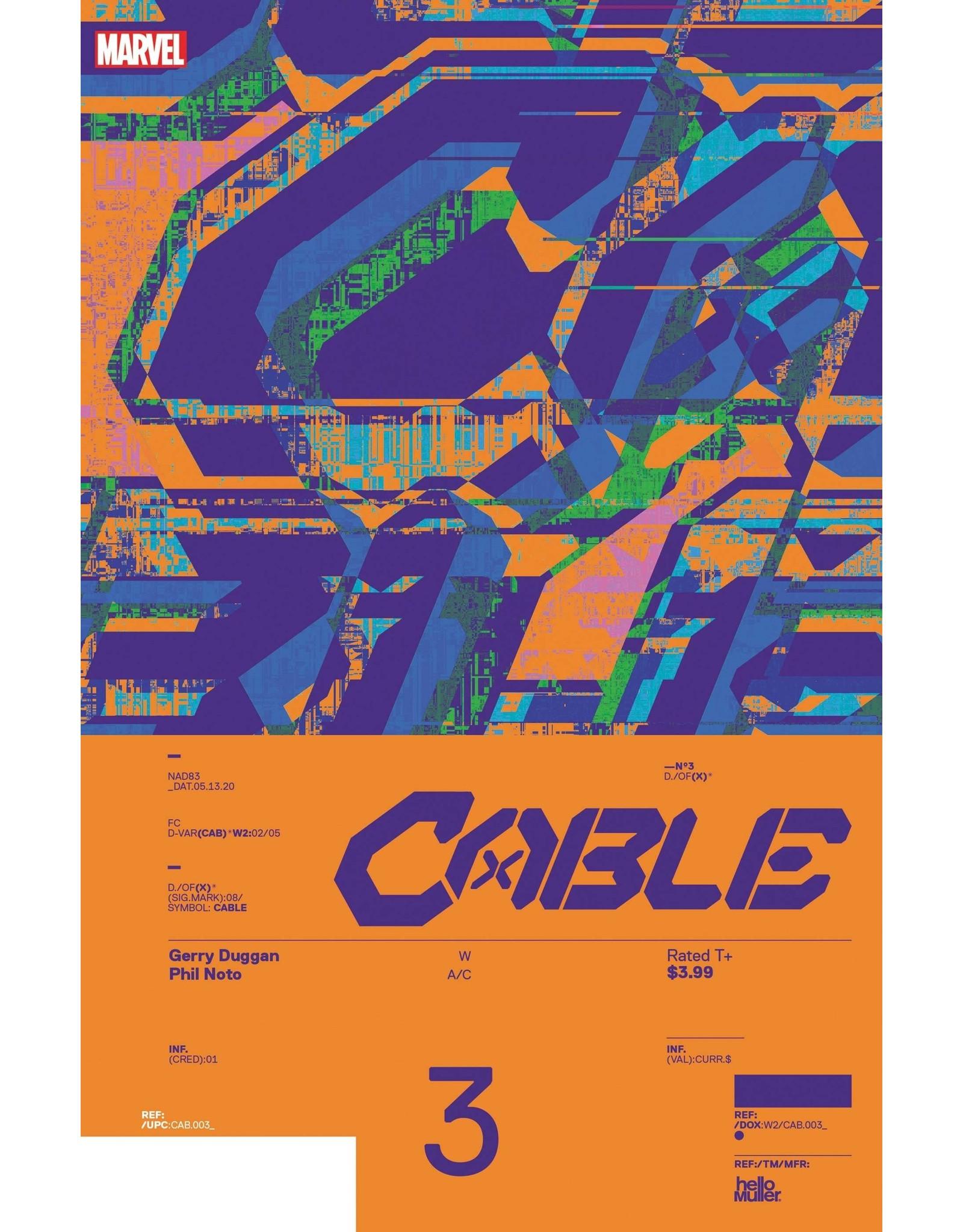 MARVEL COMICS CABLE #3 MULLER DESIGN VAR