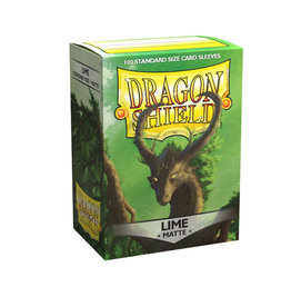 DRAGON SHIELD LIME MATTE 100 CT