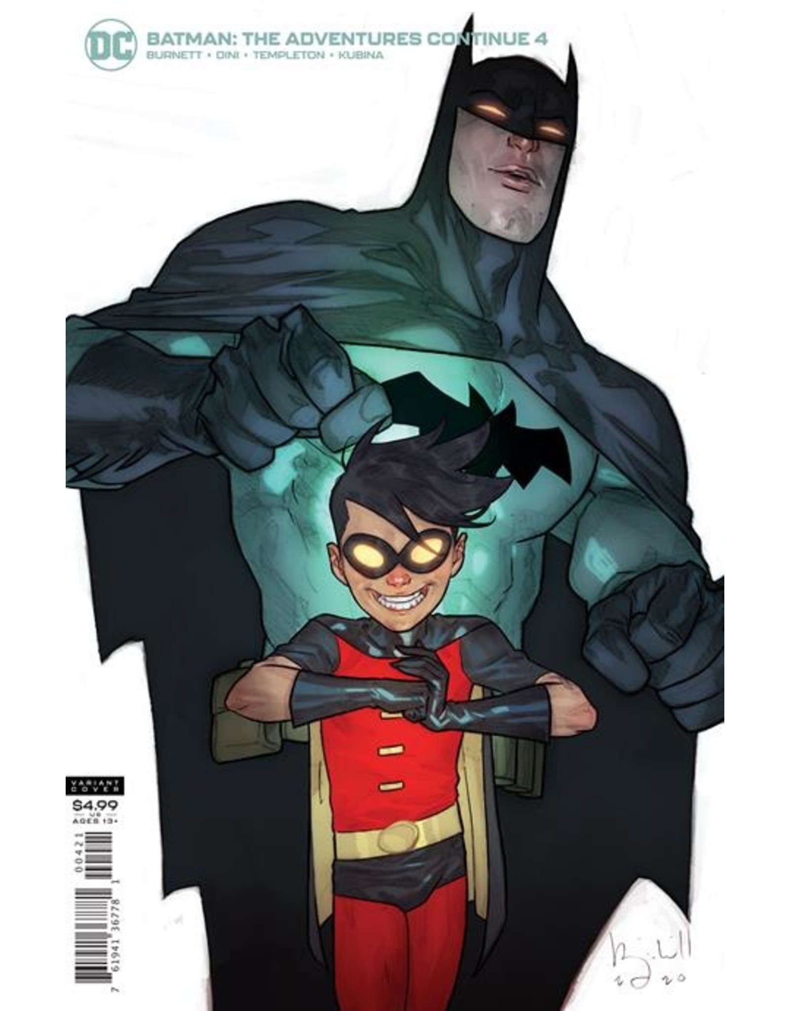 DC COMICS BATMAN THE ADVENTURES CONTINUE #4 (OF 7) CVR B BEN CALDWELL CARD STOCK VAR