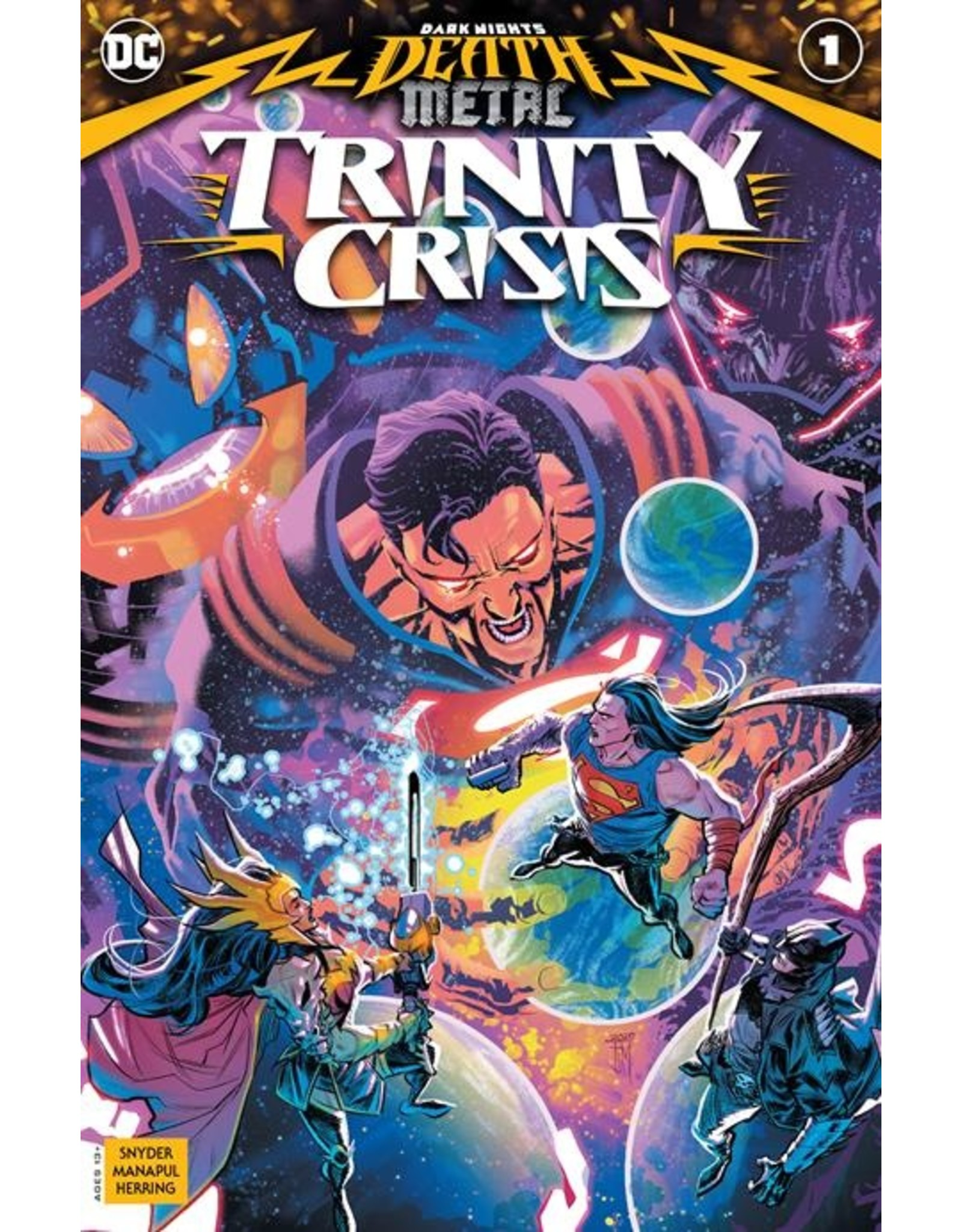 DC COMICS DARK NIGHTS DEATH METAL TRINITY CRISIS #1 (ONE SHOT) CVR A FRANCIS MANAPUL