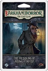 FANTASY FLIGHT GAMES ARKHAM HORROR LCG: BARKHAM HORROR - THE MEDDLING OF MEOWLATHOTEP SCENARIO PACK