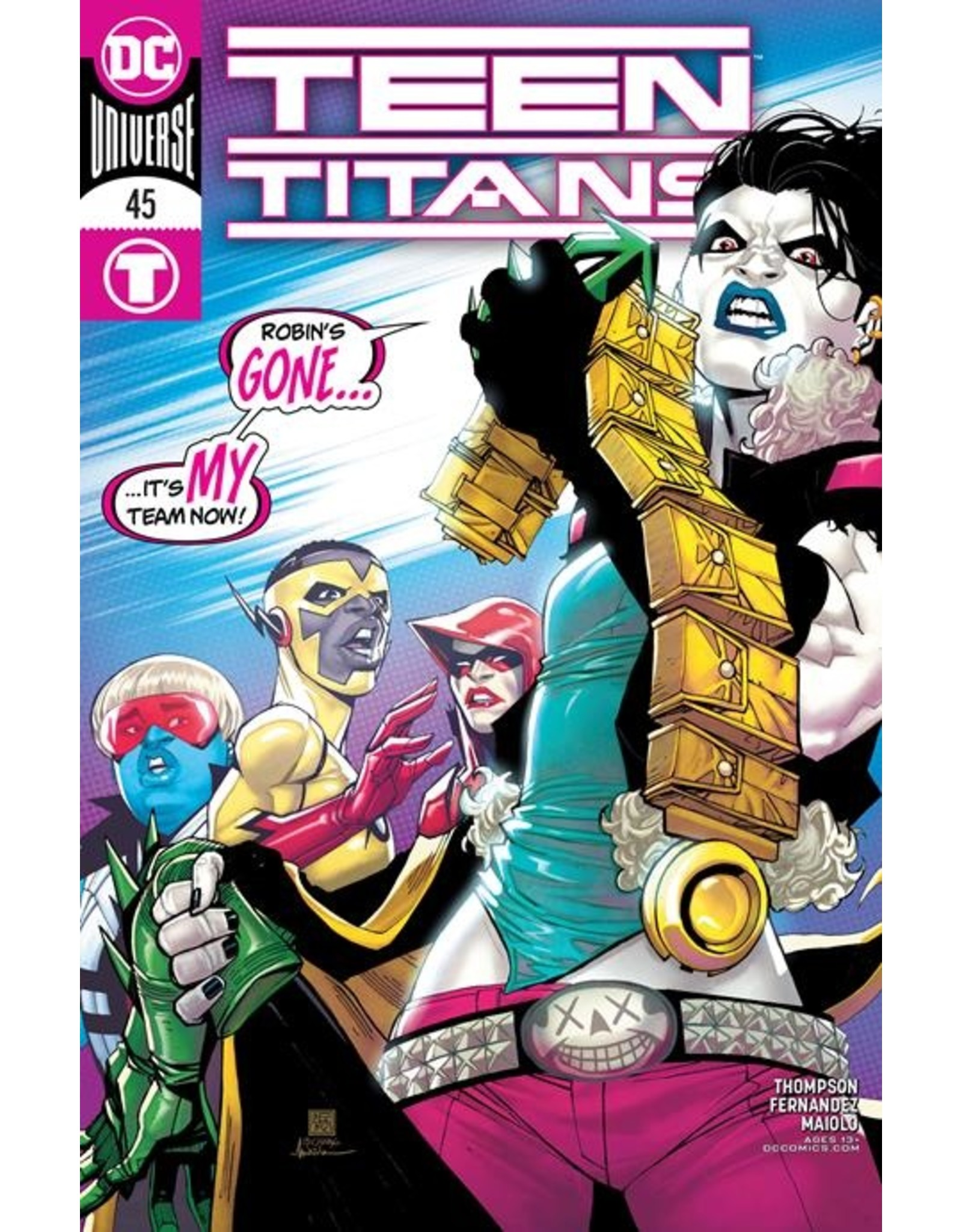 DC COMICS TEEN TITANS #45 CVR A BERNARD CHANG