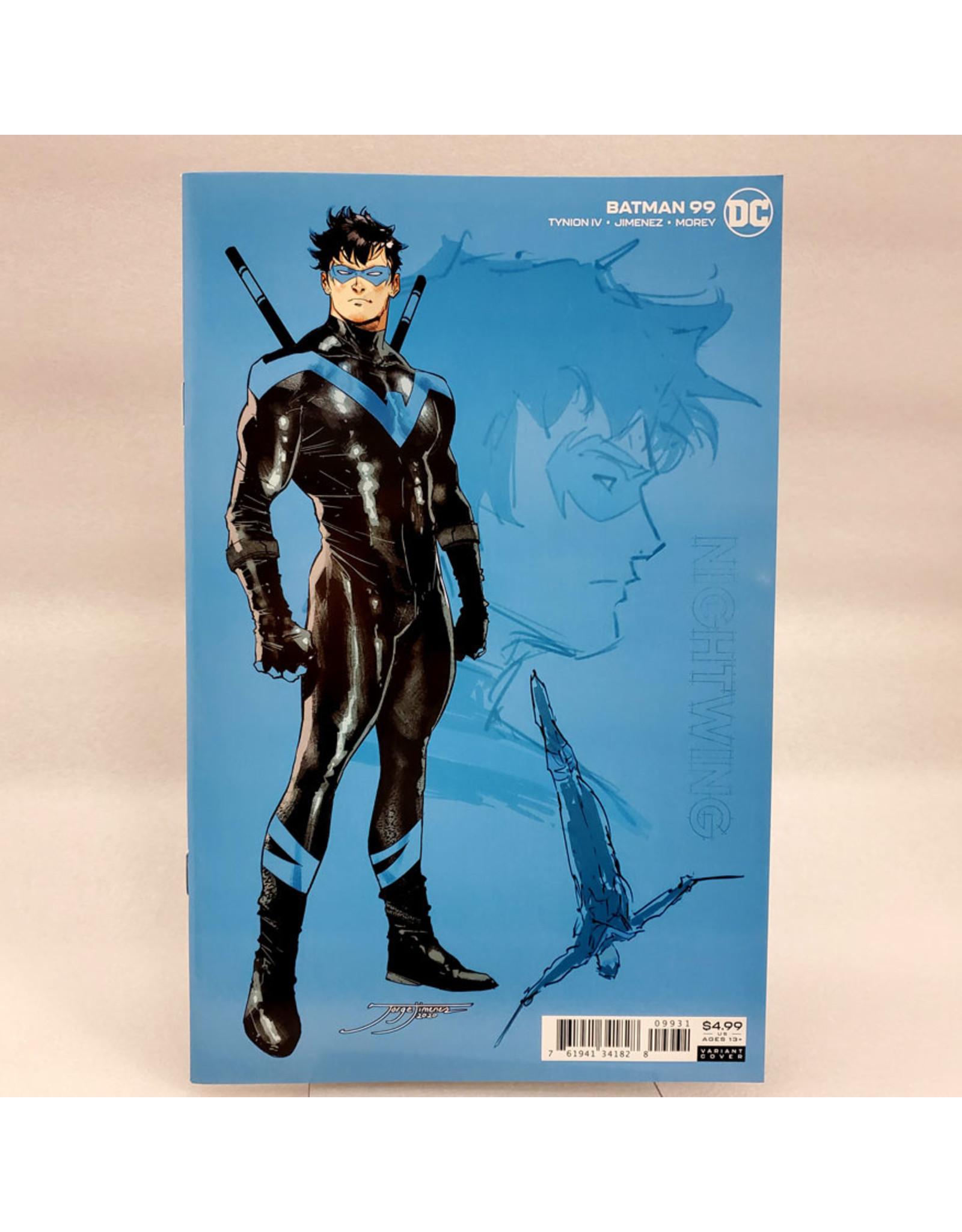 DC COMICS BATMAN #99 INC 1:25 JORGE JIMENEZ NIGHTWING CARD STOCK VAR (JOKER WAR)