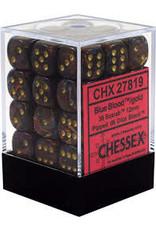 CHESSEX CHX 27819 12MM D6 DICE BLOCK SCARAB BLUE BLOOD