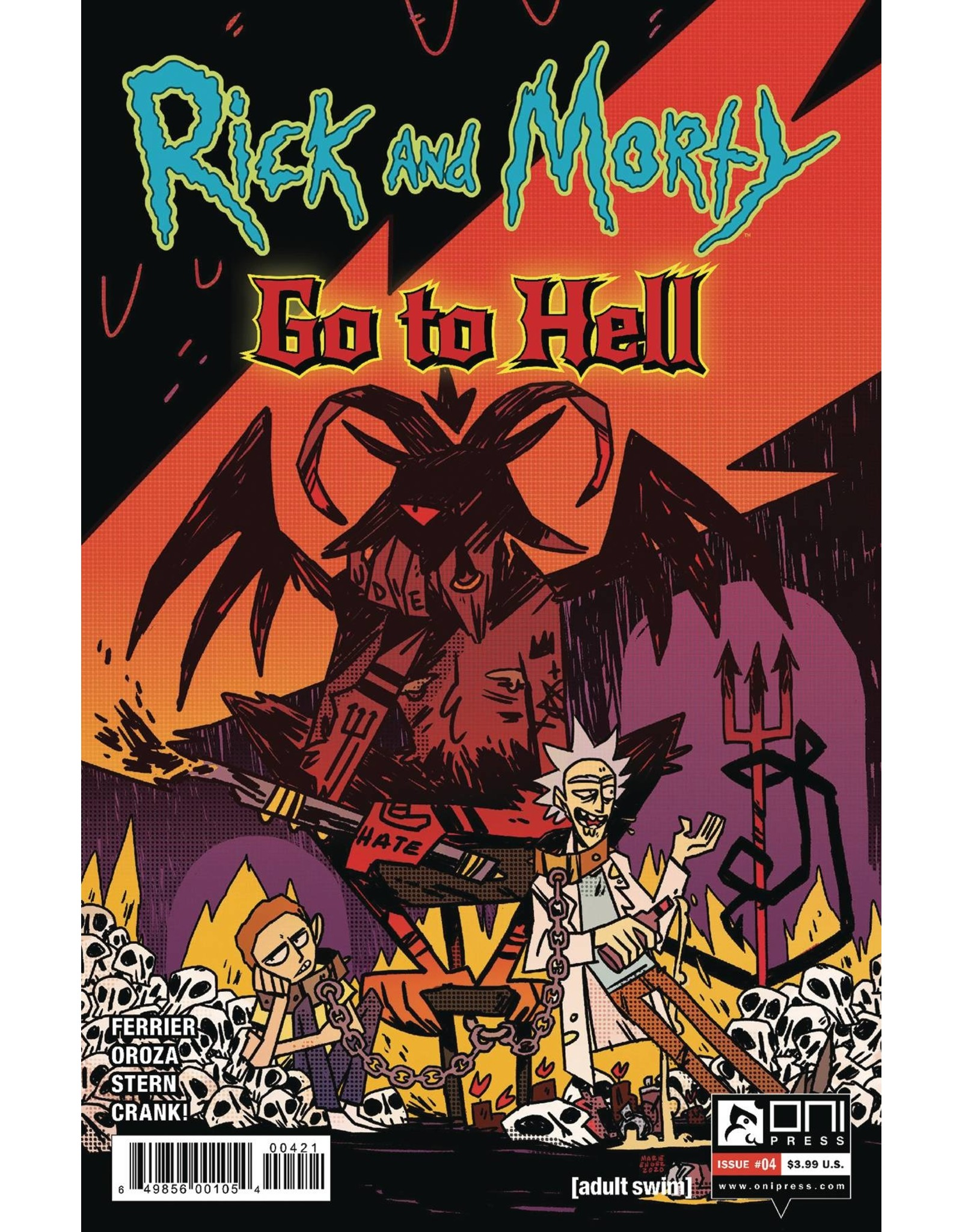 ONI PRESS INC. RICK AND MORTY GO TO HELL #4 CVR B ENGER