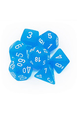 CHESSEX CHX 27416 7 PC POLY DICE SET FROSTED CARIBBEAN BLUE