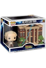 FUNKO POP BACK TO THE FUTURE DOC WITH CLOCKTOWER