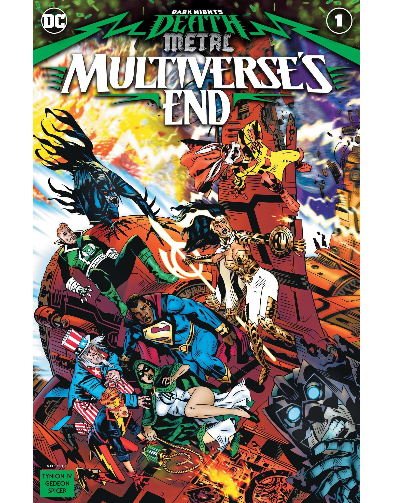 DC COMICS DARK NIGHTS DEATH METAL MULTIVERSES END #1 (ONE SHOT) CVR A MICHAEL GOLDEN