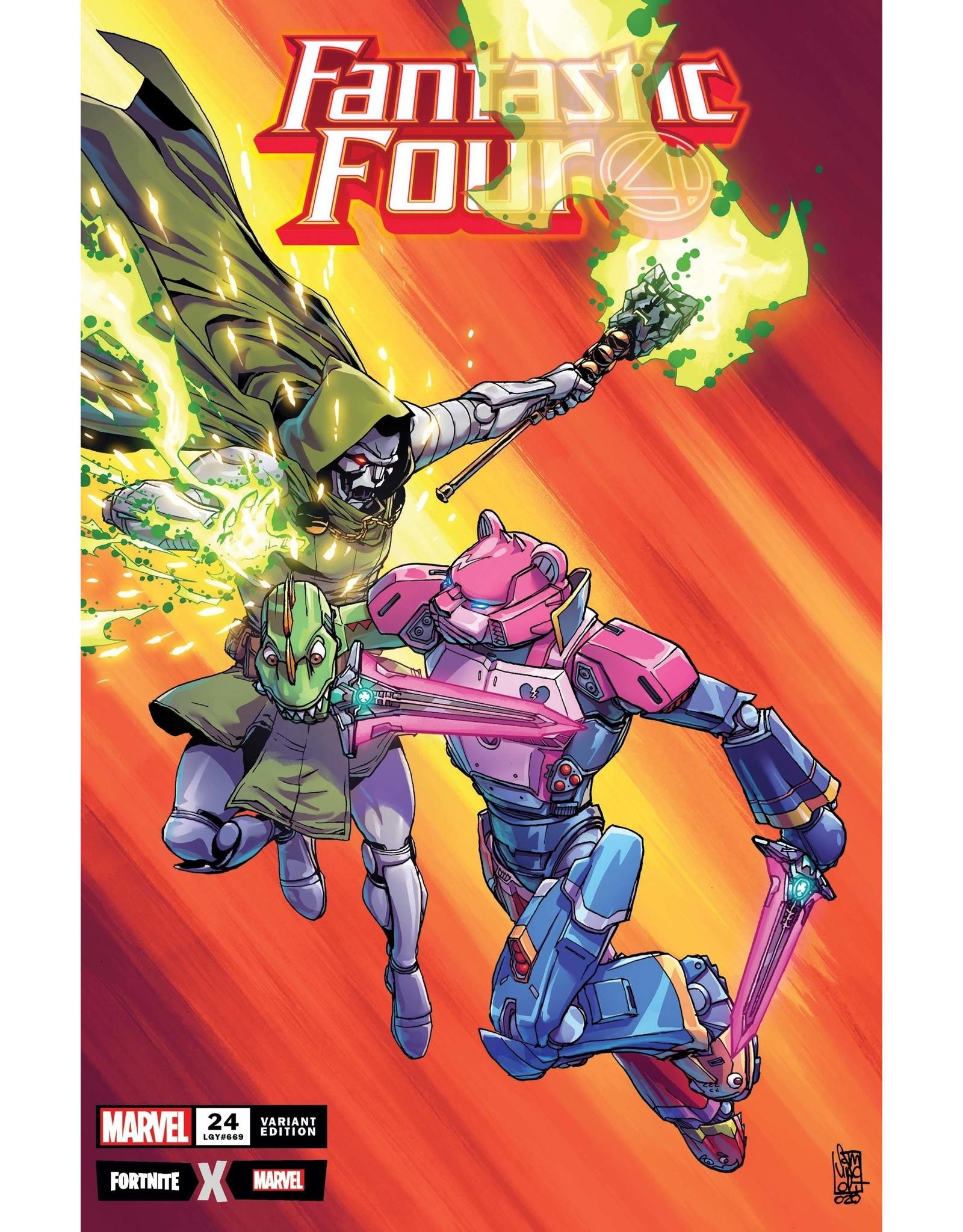 MARVEL COMICS FANTASTIC FOUR #24 CAMUNCOLI FORTNITE VAR