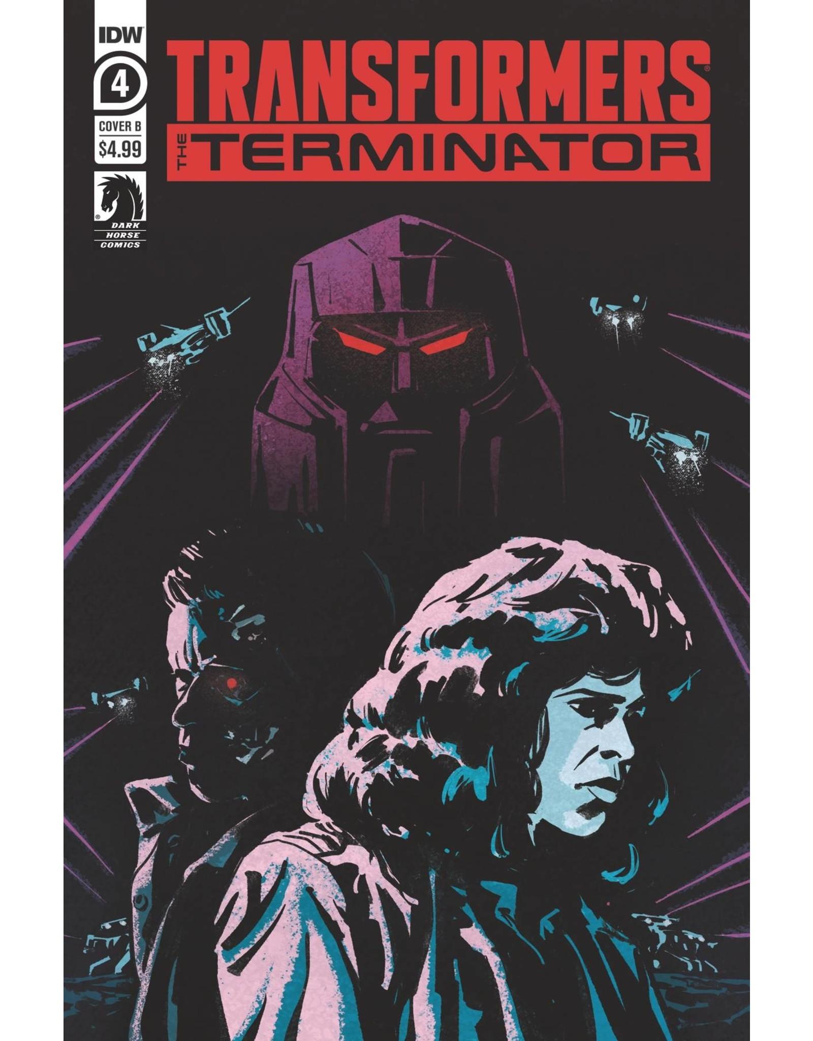 IDW PUBLISHING TRANSFORMERS VS TERMINATOR #4 (OF 4) CVR A FULLERTON