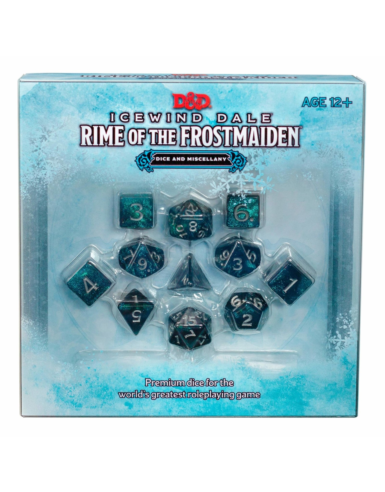 WIZARDS OF THE COAST ICEWIND DALE RIME OF THE FROSTMAIDEN DICE AND MISCELLANY