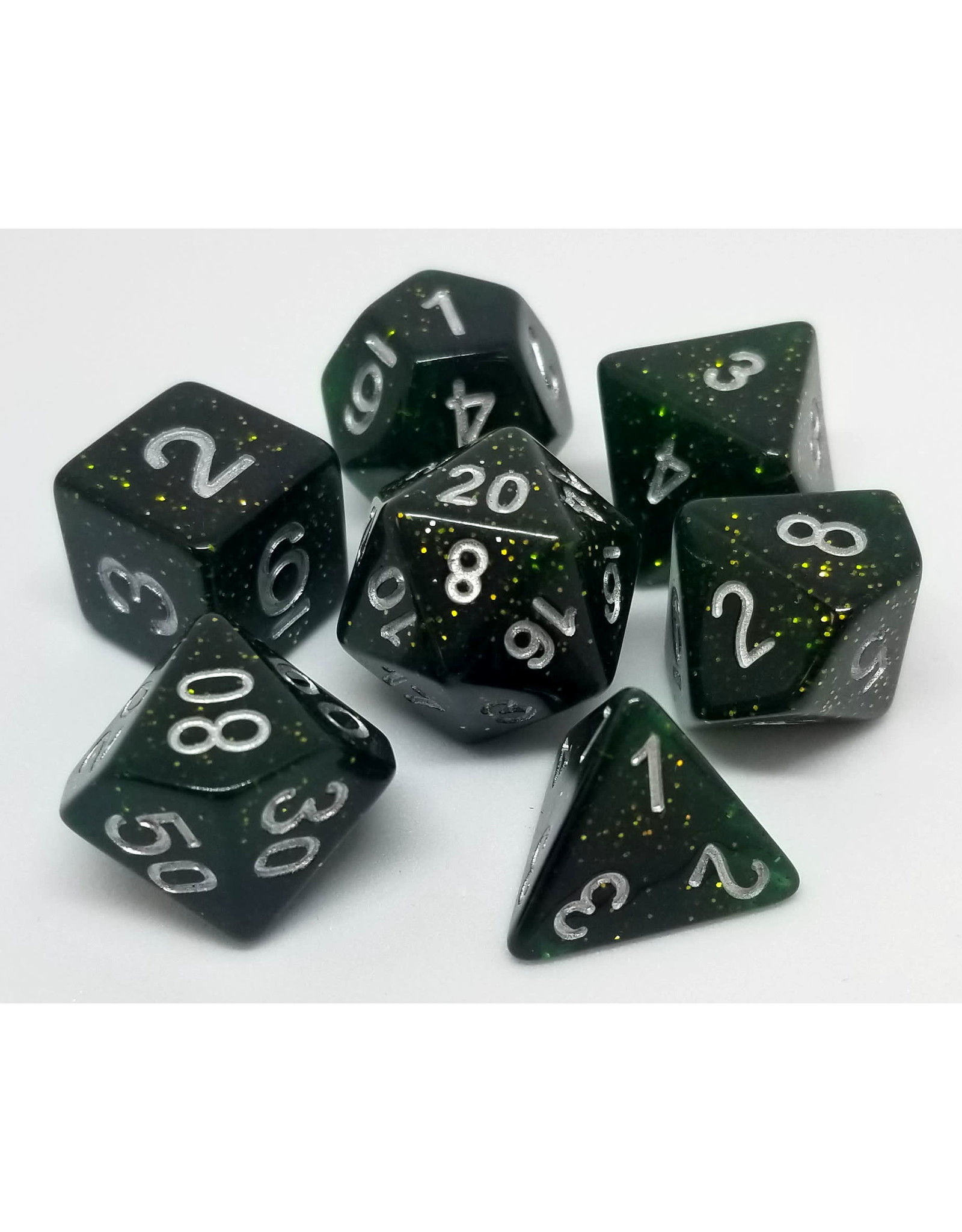 DIE HARD DICE DIE HARD DICE POLYMER RPG GREEN STARDUST