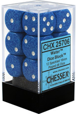 CHESSEX CHX 25706 16MM D6 DICE BLOCK SPECKLED WATER