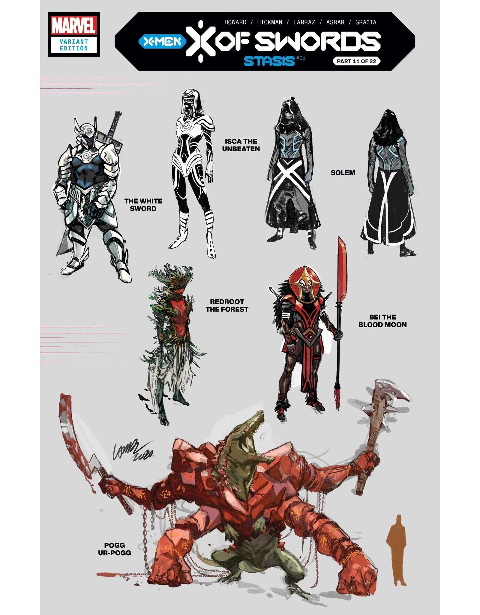 MARVEL COMICS X OF SWORDS STASIS #1 LARRAZ DESIGN VAR