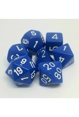 CHESSEX CHX 25406 7 PC POLY DICE SET BLUE/WHITE